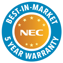NEC Display Solutions BREAKS NEW GROUND WITH BEST-IN-MARKET 5-YEAR WARRANTY FOR PROFESSIONAL SIGNAGE DISPLAYS