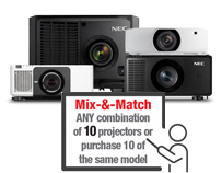 Did you know that, if you buy 10 of our projectors, you get one free?