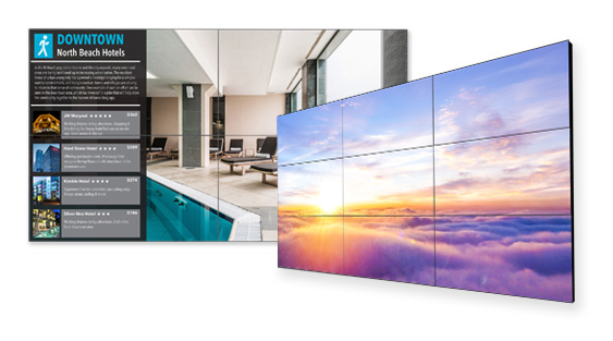 Picture of NEC's video wall solutions.