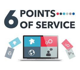6 points of service infographic